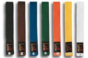 Colores de Cinturones de Karate